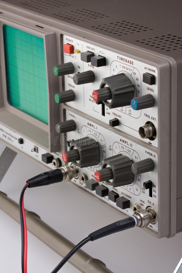 Oscilloscoop stock foto