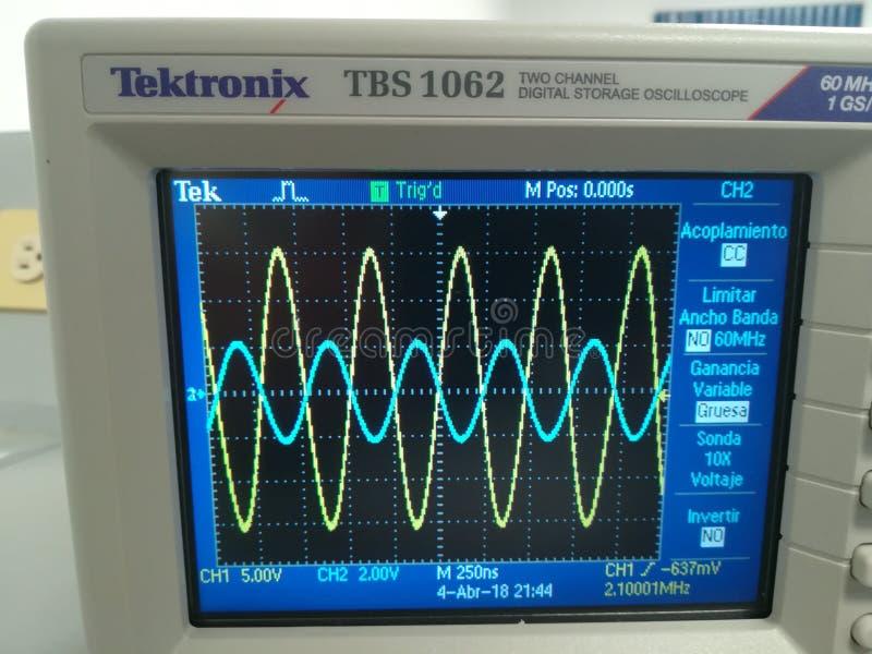 oscilloscope image libre de droits