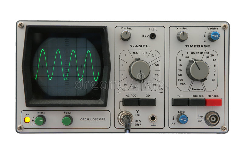 Download Oscilloscope isolated stock image. Image of testing, isolated - 82433