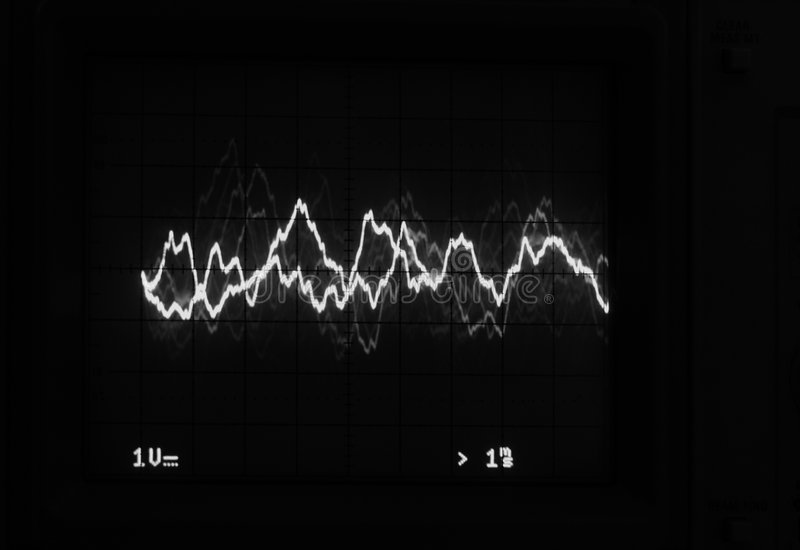 Download Oscilloscope Trace To Music Stock Illustration - Image: 6088043