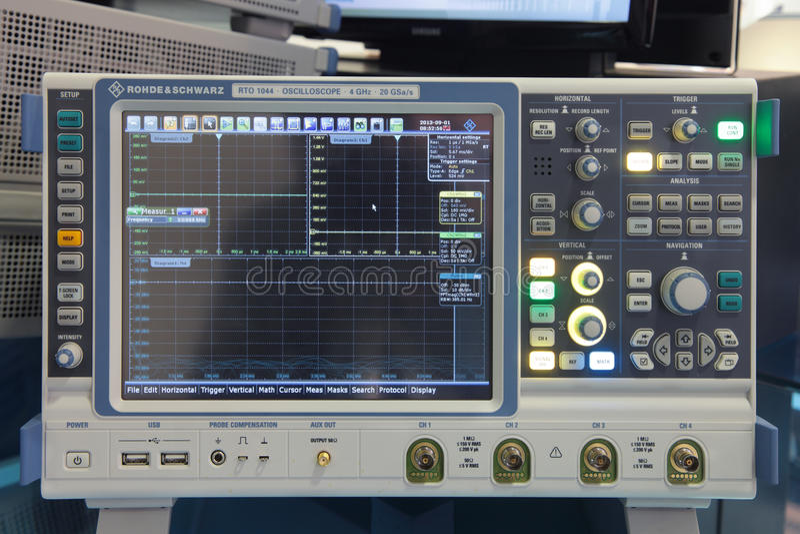 Oscilloscope royalty free stock photo