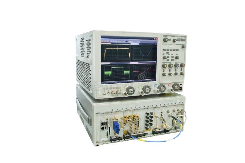 Oscilloscopio fotografia stock