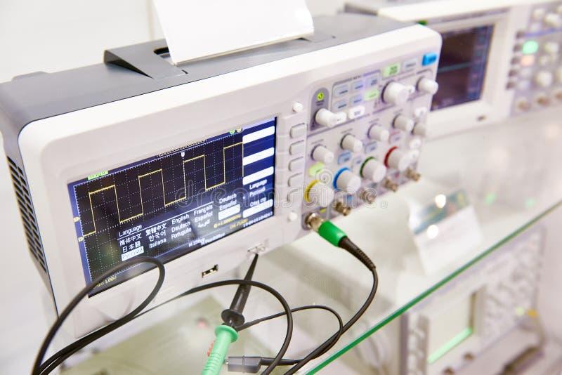 Oscilloscopio di Digital immagine stock libera da diritti