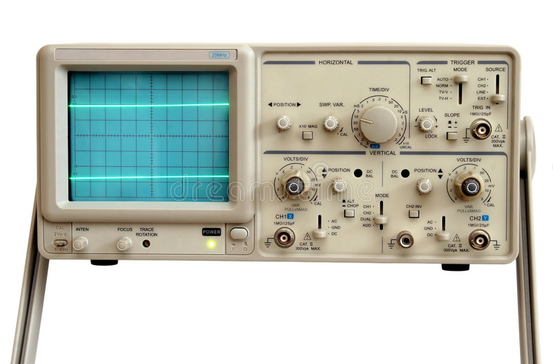 Osciloscopio imagen de archivo