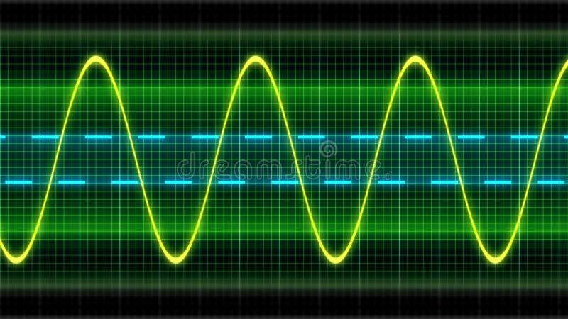 Osciloscopio de la onda de la textura ilustración del vector