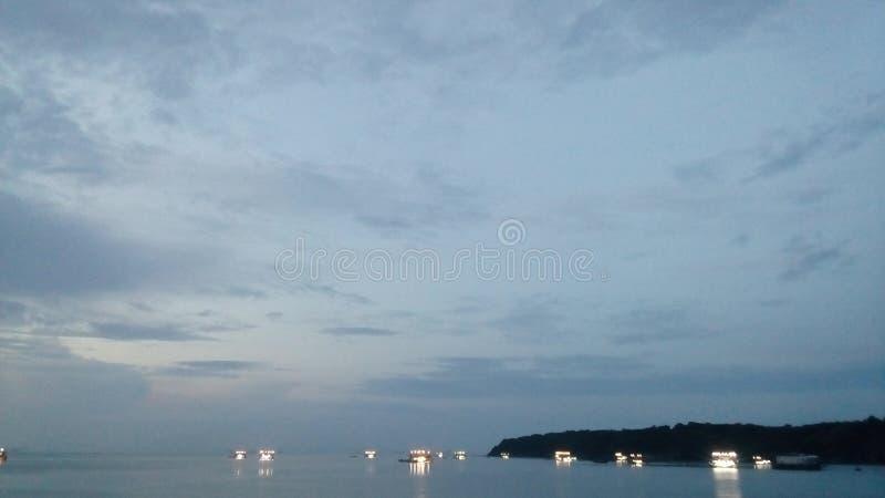 oscuridad en el puerto 3 fotos de archivo
