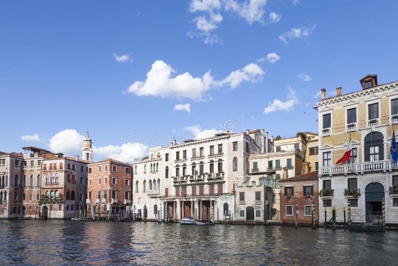 Oscuridad en Grand Canal, Cannaregio, Venecia, Véneto, Italia imagenes de archivo