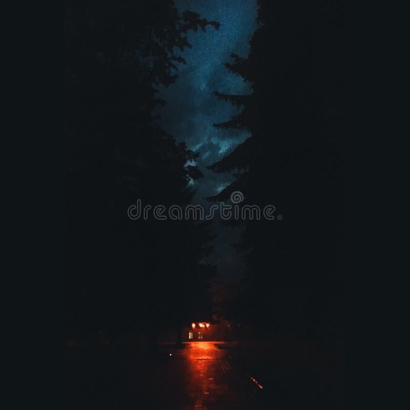 oscuridad en la ciudad fotografía de archivo