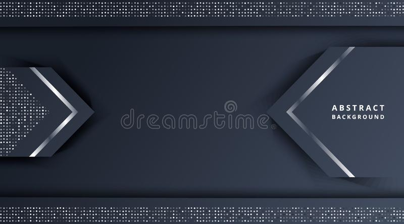 Oscuridad metálica de plata del fondo del extracto con brillo libre illustration