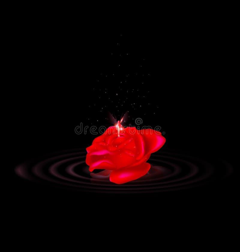 Oscuridad y hada de la rosa roja libre illustration