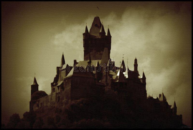 Oscurità di Cochem del Burg fotografia stock libera da diritti