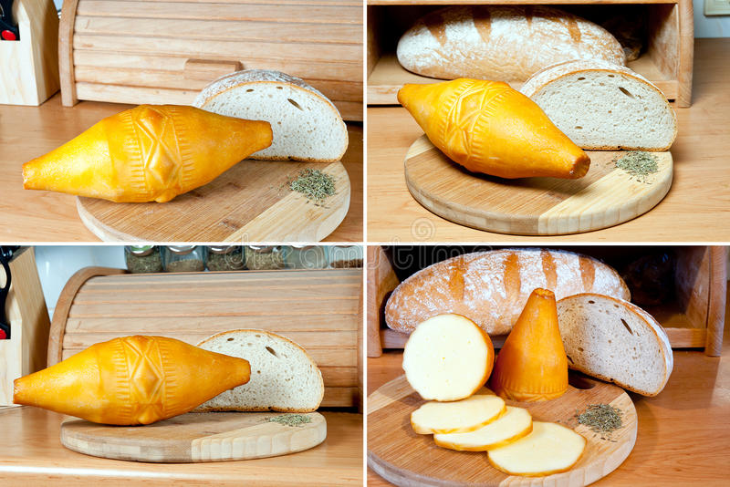 Oscypek - formaggio affumicato immagini stock