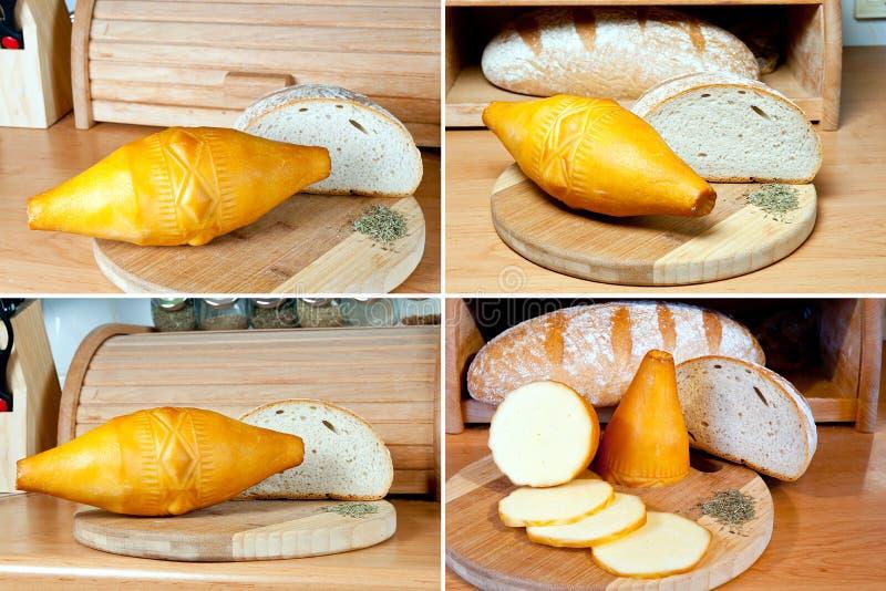 Oscypek - queso ahumado imagenes de archivo