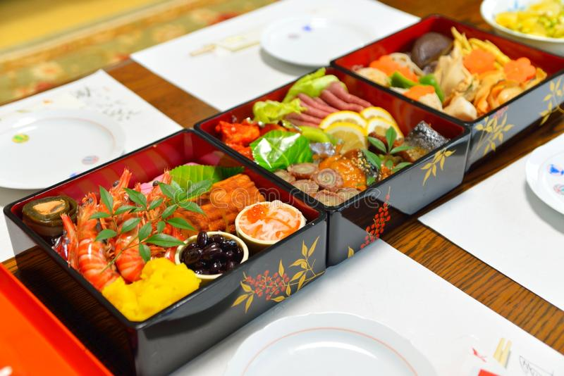 Osechi: La comida japonesa del Año Nuevo imagen de archivo libre de regalías