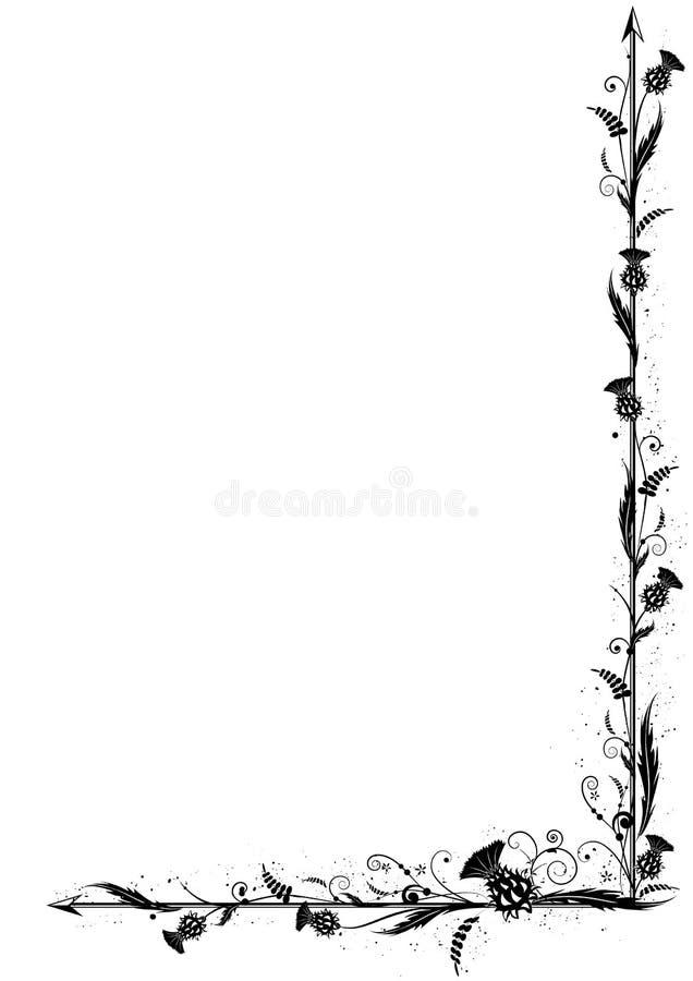Oset granica ilustracja wektor