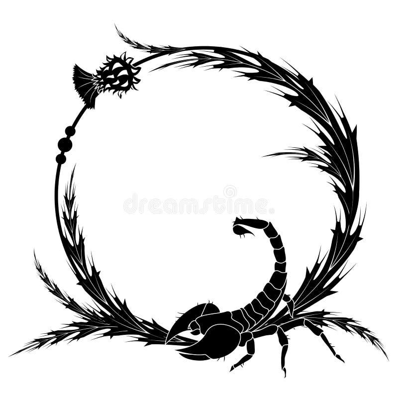 Oset i skorpion ilustracja wektor