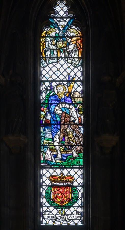 Oset kaplicy witrażu okno fotografia stock