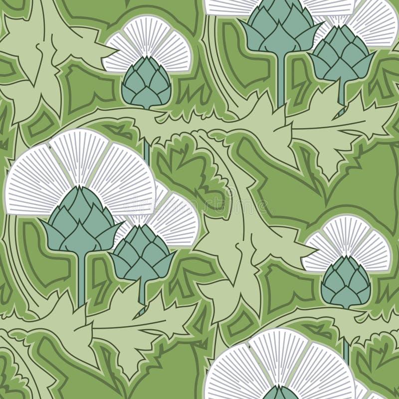 Osetu dekoracyjny pasek Osetu wektorowy bezszwowy wzór ilustracja wektor
