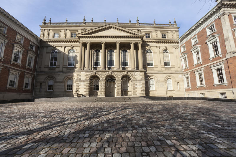 Osgoode Hall, historic building in downtown Toronto in Canada. Osgoode Hall is a landmark building in downtown Toronto constructed between 1829 and 1832 in the stock images