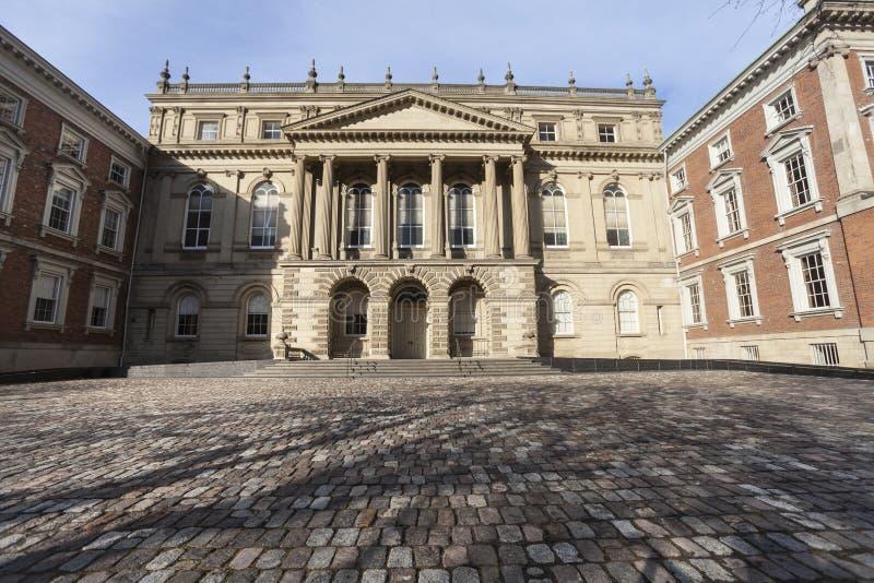 Osgoodezaal, de historische bouw in Toronto van de binnenstad in Canada stock afbeeldingen
