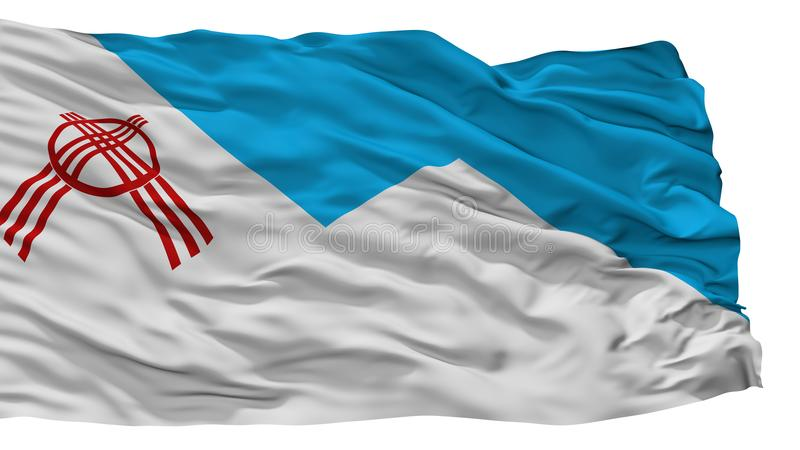 Osh City Flag, Kyrgyzstan, Isolated On White Background stock illustration