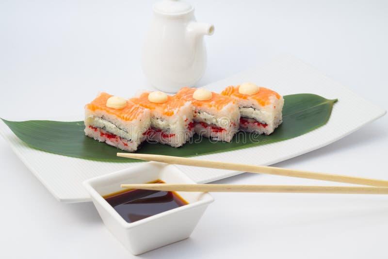 Oshi suszi z łososiem zdjęcie royalty free