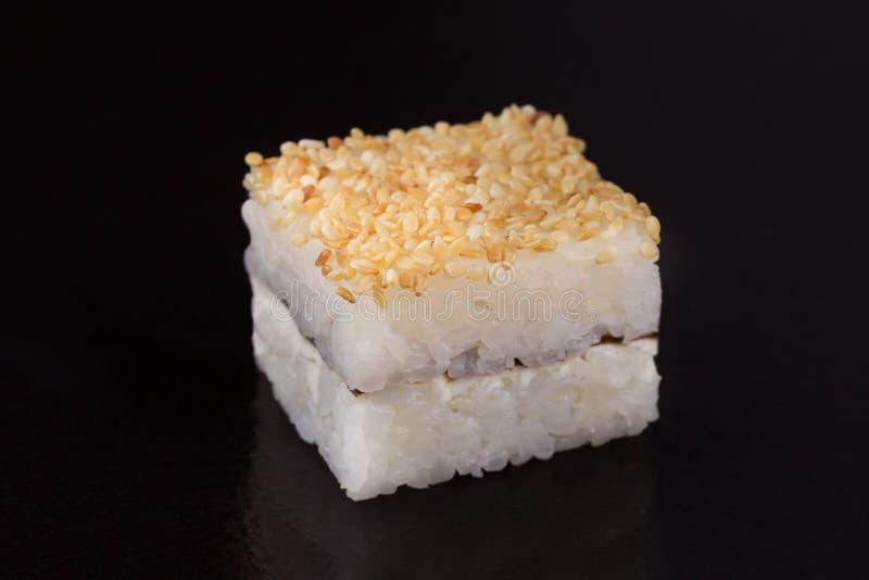 Oshi - traditionell japansk mat, sushi royaltyfri bild