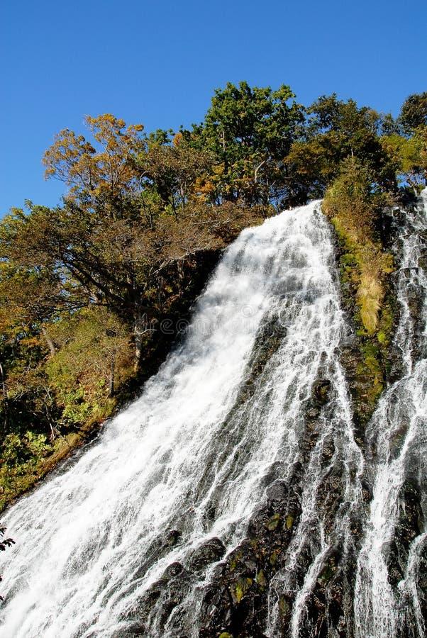 Oshinkoshindaling in de herfst, Hokkaido, Japan stock afbeelding