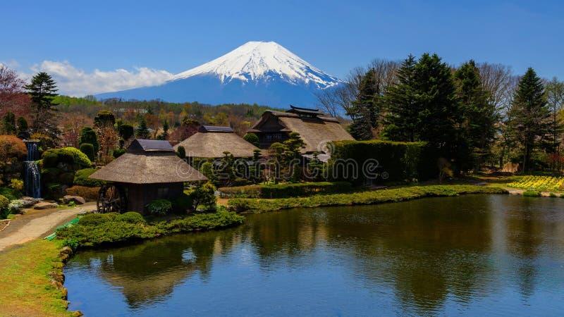 Oshino Hakkai heritage village royalty free stock image