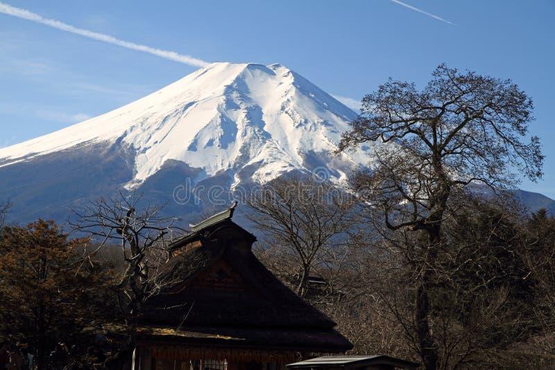 Oshino Hakkai wiosny i Mt fuji zdjęcie stock