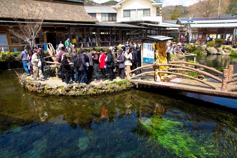 Oshino wioska jest małym farmą przy bazą Fuji obraz stock