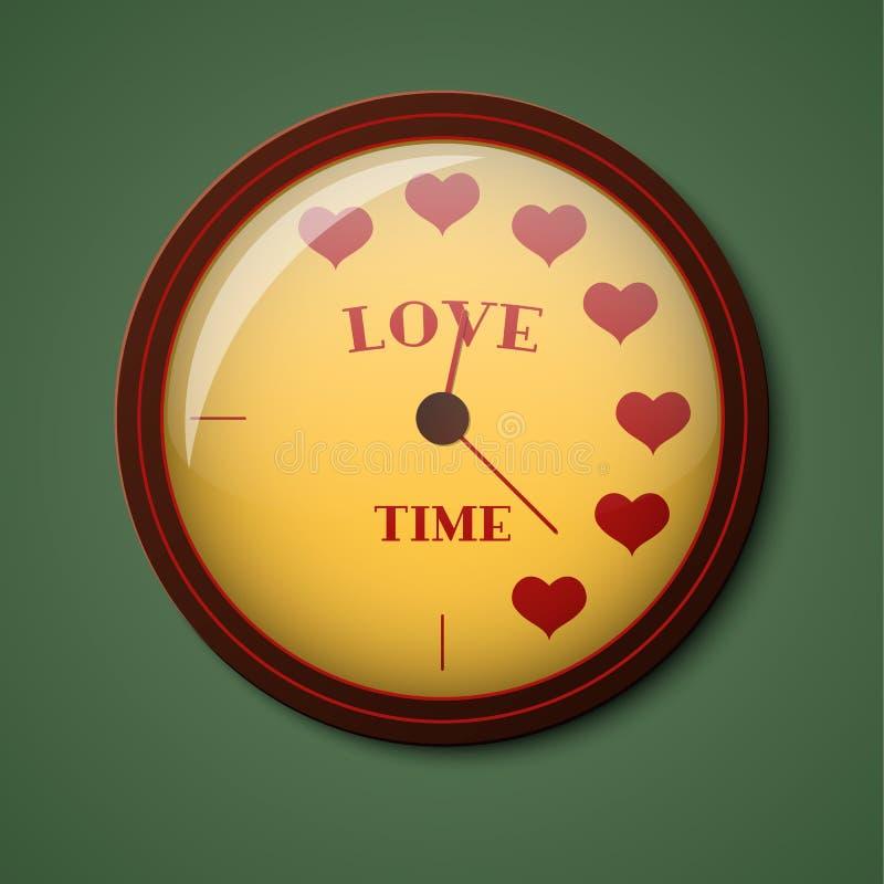 Osiąga z przypomnieniem czas miłość również zwrócić corel ilustracji wektora ilustracja wektor