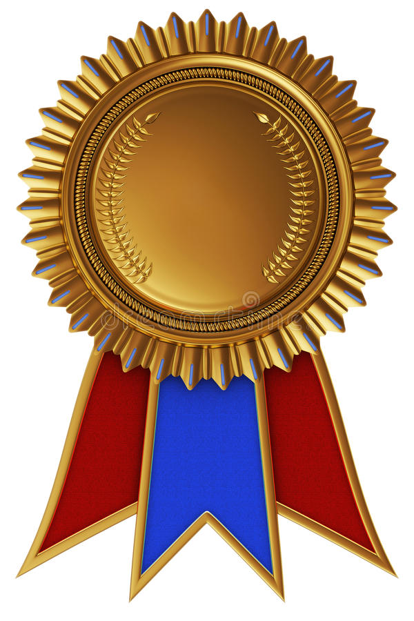 Osiągnięcie medal z faborkiem royalty ilustracja