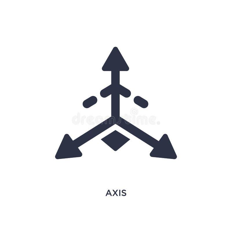 osi ikona na białym tle Prosta element ilustracja od geometrii pojęcia ilustracja wektor