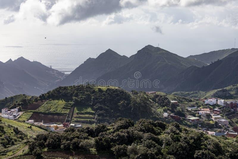 Osiedla wiejskie na wyspie Teneryfa fotografia stock