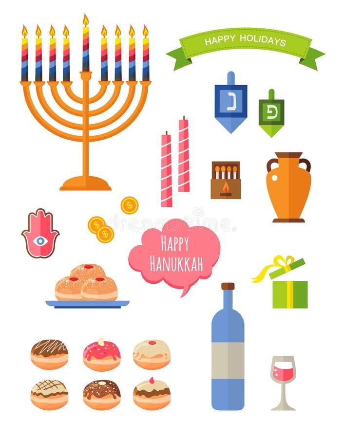 Osiem dni Hanukkah ilustracji