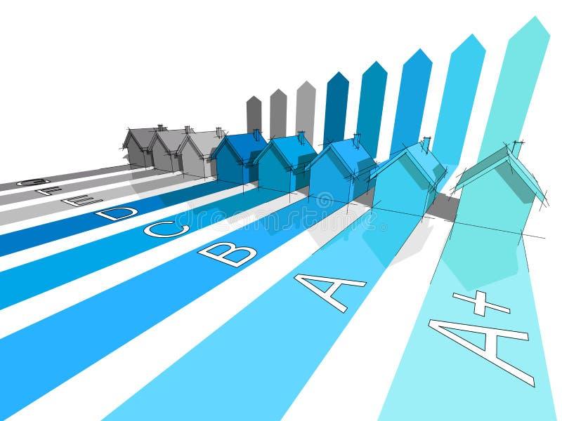 Osiem domów ilustracja wektor