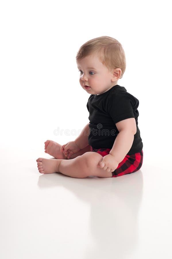 Osiem miesięcy Stara chłopiec fotografia stock