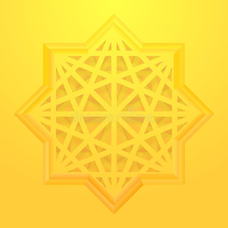 Osiem punktów gwiazdowy tło royalty ilustracja