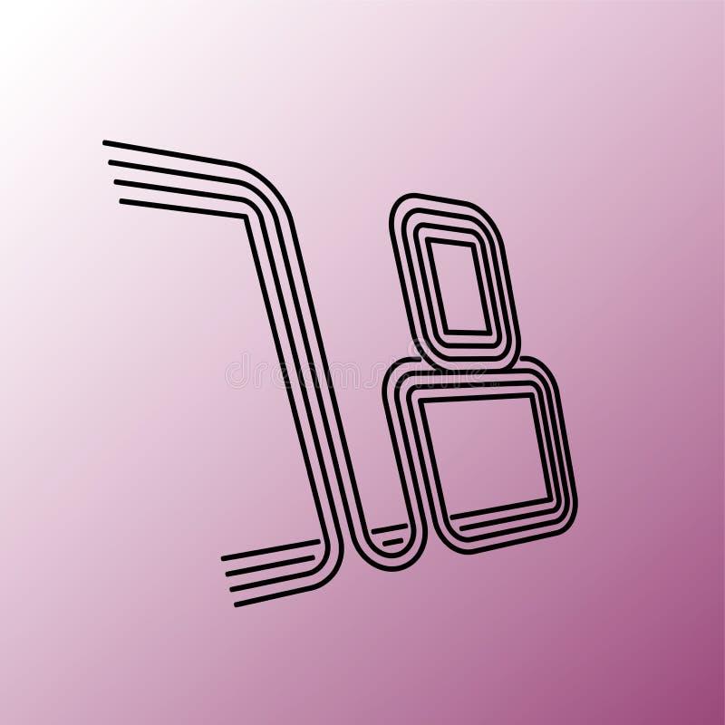 osiemnaście ilustracja wektor