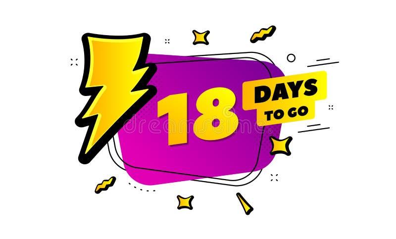 Osiemnaście dni opuszczali ikonę 18 dni iść wektor royalty ilustracja