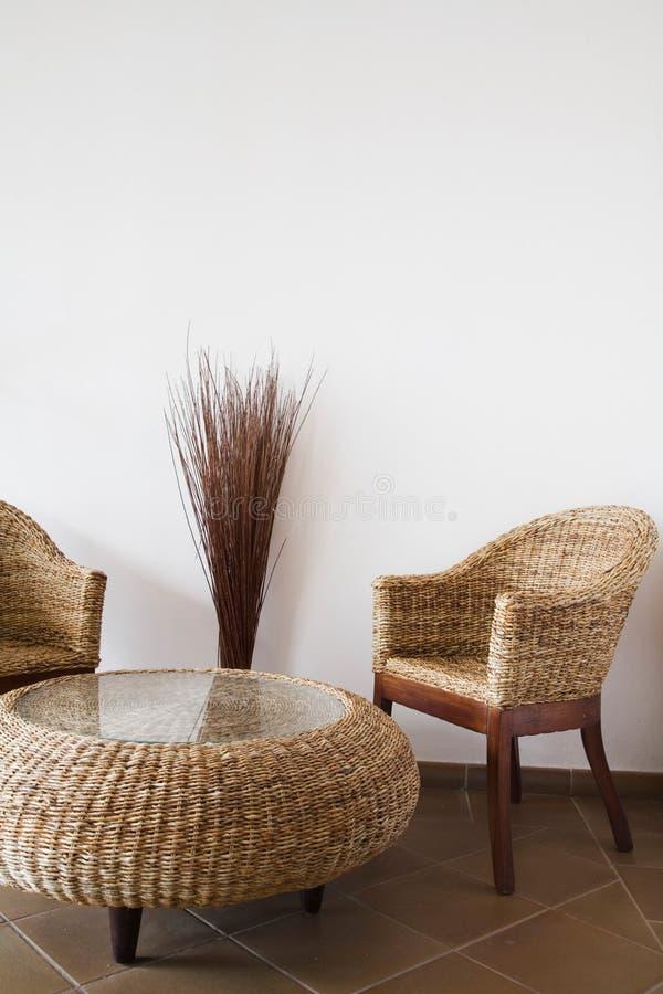 osier de meubles images stock