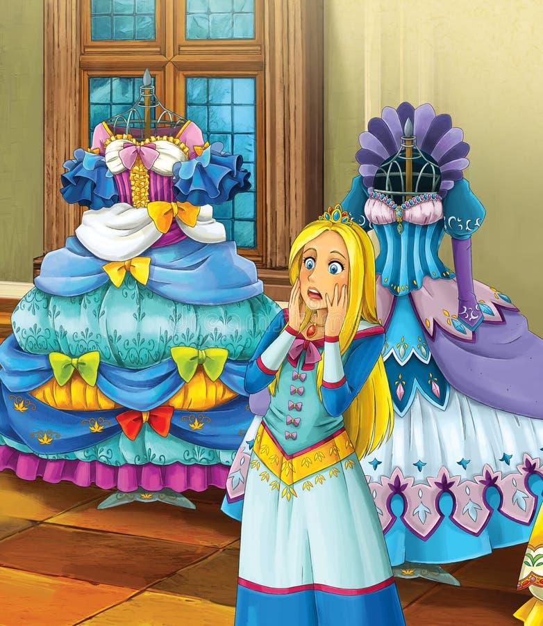 Osioł skóra kasztele ilustracja dla dzieci - książe lub princess - rycerze i czarodziejki - royalty ilustracja