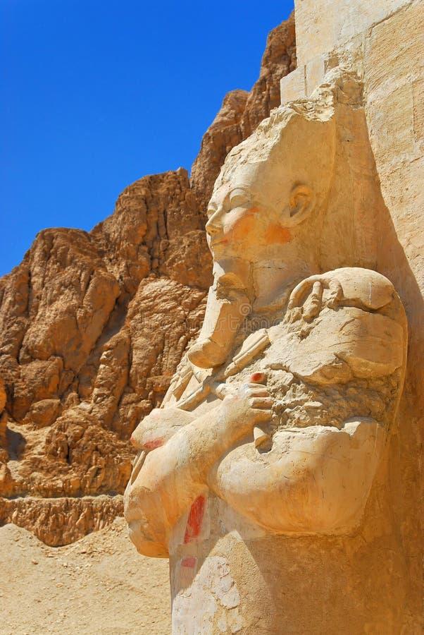 Osiris au temple de Hatshepsut photo stock