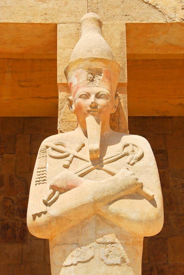 Osiris bij tempel Hatshepsut royalty-vrije stock foto's