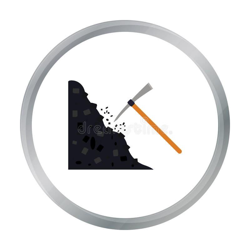 Oskard ikona w kreskówka stylu odizolowywającym na białym tle Kopalniany symbolu zapas royalty ilustracja
