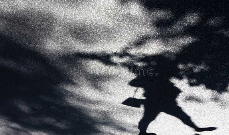 Oskarp bakgrundsskugga av en kvinna och treetops arkivbilder