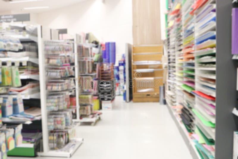 Oskarp lagerplats för bakgrund Inredning i butiken för oskärpa fotografering för bildbyråer