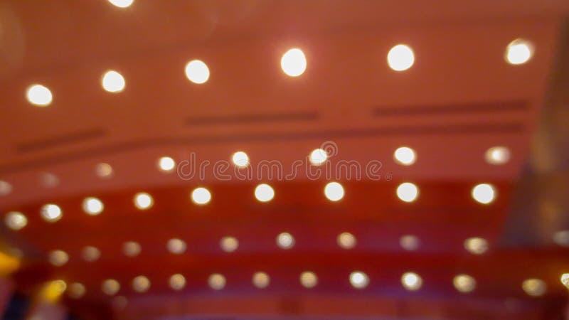 Oskarp linje av ljus i seminarium royaltyfria foton