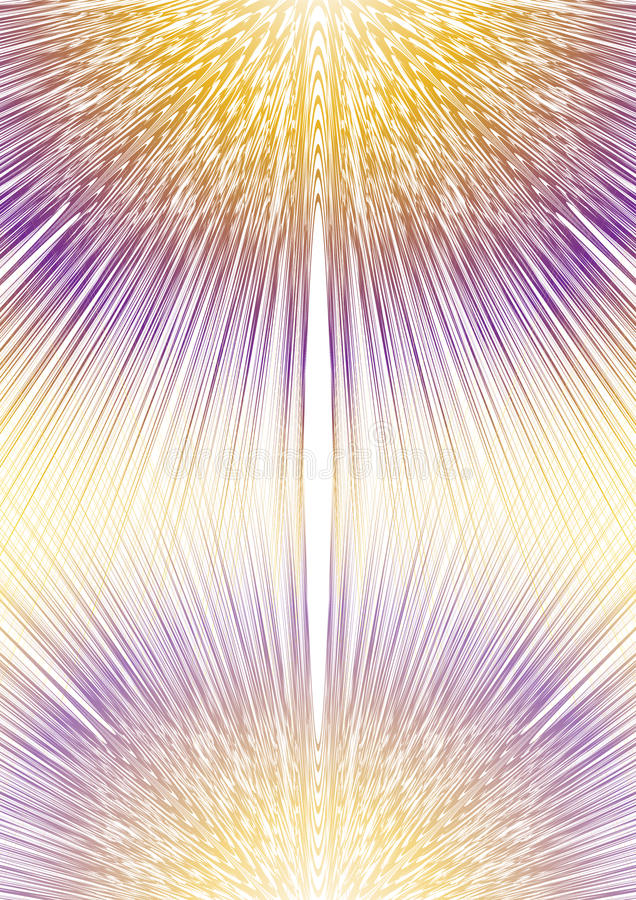 Oskarp strålform i spegelsammansättning, guling och lilor planlägger, samkopieringsbakgrund för räkningen, läroboken, plakatet, r royaltyfri illustrationer
